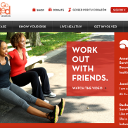 GoRedForWomen.org website landing page for #HeartHour Partner Workout
